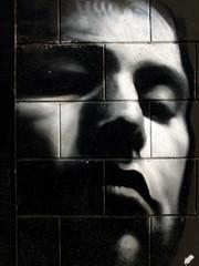graffiti dark head