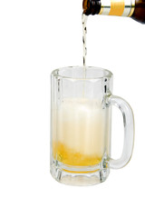 foamy ice cold beer