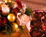 holiday dining - dessert arrangement poster