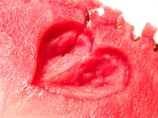 juicy watermelon fresh heart-shaped art