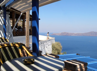 landscape from santorini