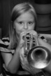 child trumpet player