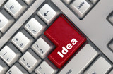 keyboard with -idea- button poster