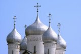 domes of saint sophia cathedral poster