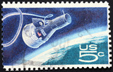 space exploration postage stamp poster