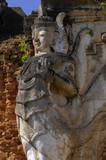 myanmar, inle lake: sculpture at nanthe paya pagoda poster