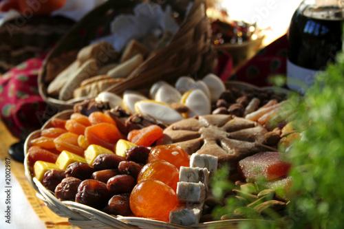 Papiers peints Assortiment les treize desserts de noël en provence