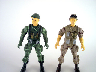 two military guy toys