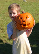 little boy with jack o' lantern