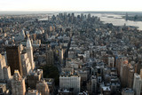 manhattan view from the empire state building poster