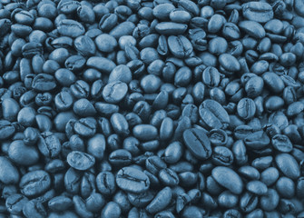coffee grains in blue