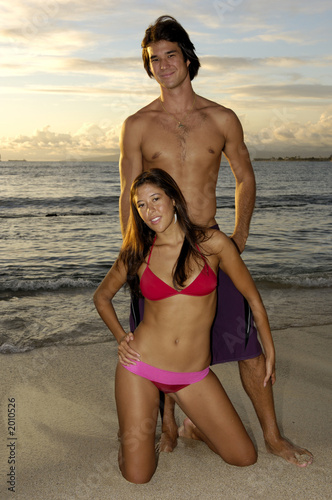 sexy couple on beach