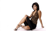 sexy asian girl in heels poster