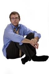 man sitting on ground