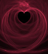 black heart pink swirls