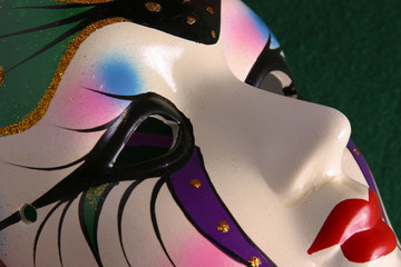 mardi gras mask closeup