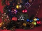 coloured brilliant ornaments poster