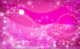 fantasy snowflakes light pink poster