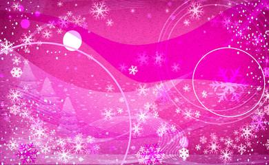 fantasy snowflakes light pink