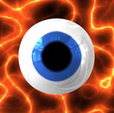 cool 3d eye poster