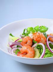 shrimpssalat, hochformat