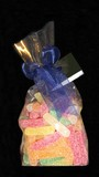 jelly sweets in bag. gift. convectionery poster