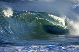 giant wave breaking on shore poster
