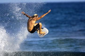 surfer doing an ariel
