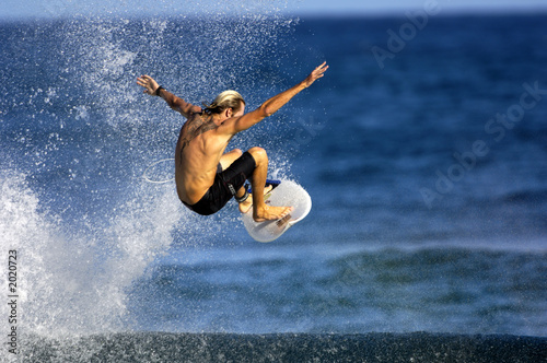 surfer doing an ariel