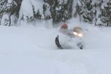 snowmobile powder poster