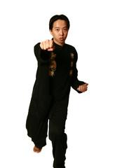 kung fu boy punching
