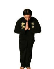 kung fu boy salute