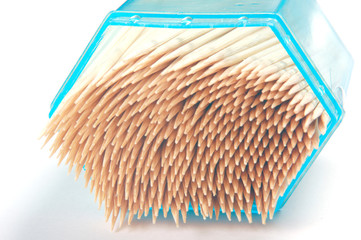 the toothpicks in box