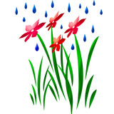 raindrops art poster