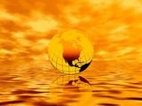 golden sunrise. the earth poster