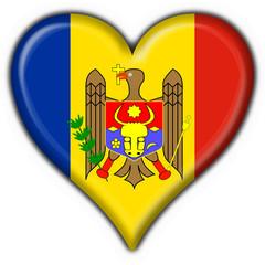 bottone cuore moldavo - moldova heart flag