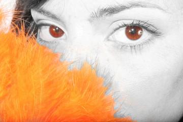 la parte caoba del iris
