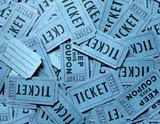 blue ticket background