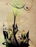 floral composition poster