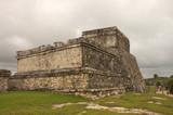 mayan palace ruins poster