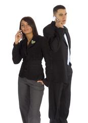 group business with mobile phones