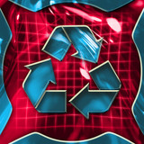 recycling icon sign poster