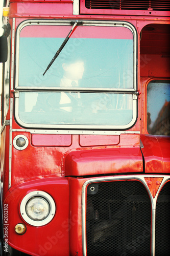 Foto op Canvas Londen rode bus london bus detail