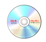 cd-r with label poster