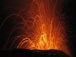 explosion de lave en fusion