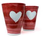 red love mugs poster