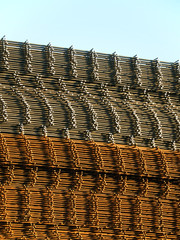 stacked reinforcing rods