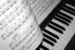 Leinwanddruck Bild - klavier