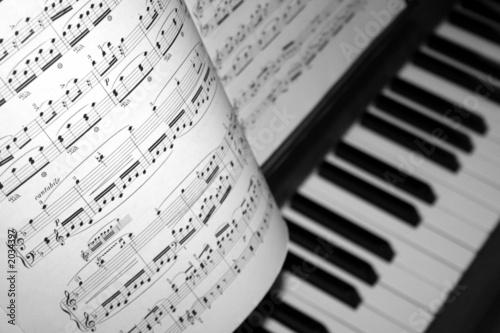Leinwanddruck Bild klavier