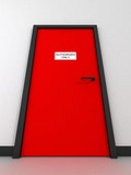 door - authorized only poster